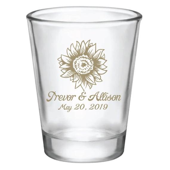 90e6815e4b Sunflower wedding favors sunflower wedding shot glasses