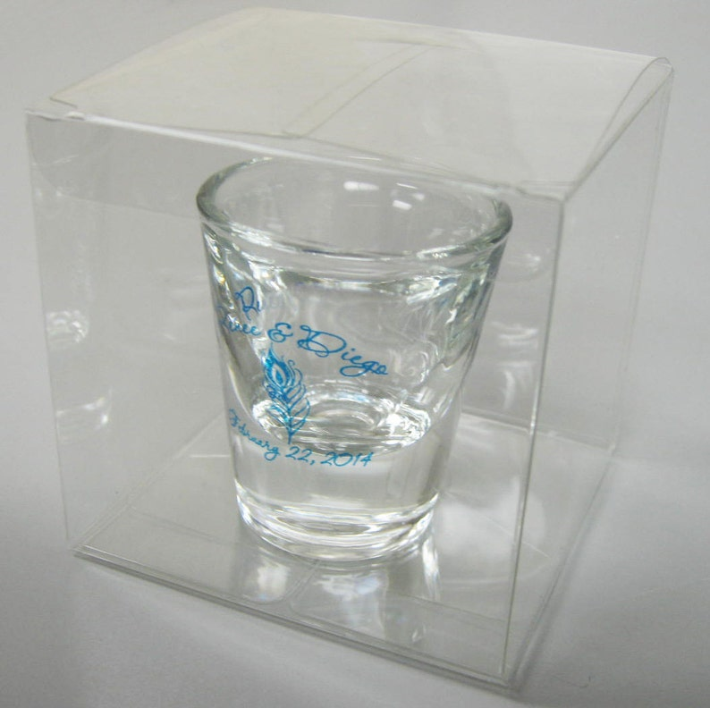 Votive Holders Etc Perfect for Shot Glasses 75 Clear Wedding Favor Boxes