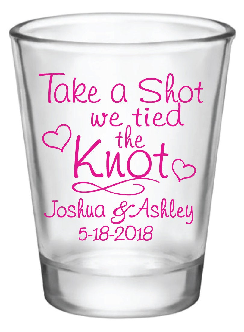 Wedding Favors Shot Glasses 1.75oz Glass Shot Glasses Take a | Etsy