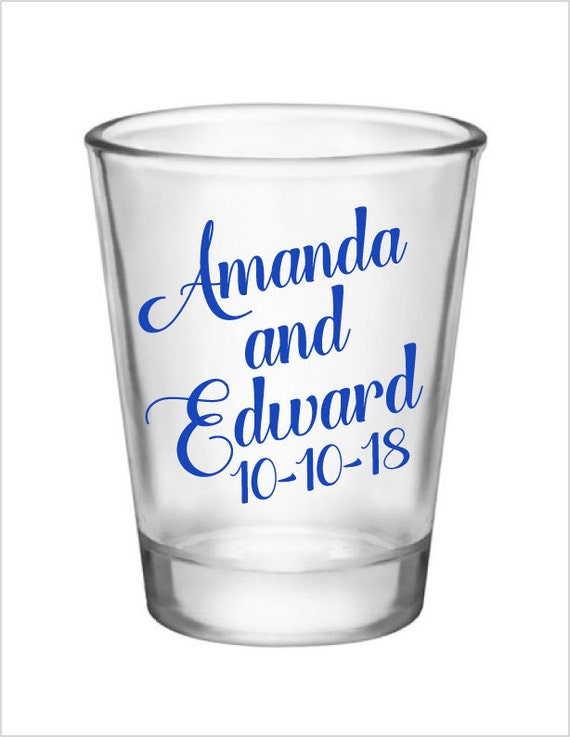1.75oz glass wedding shot glasses-personalized wedding custom shot glasses- 120 pieces