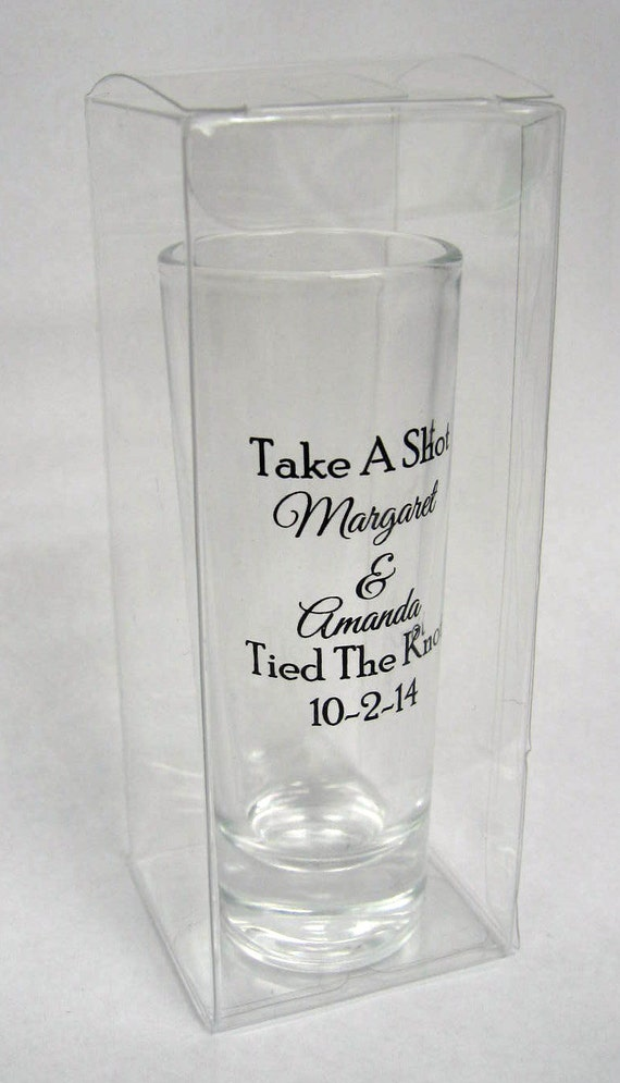 Clear Boxes For Wedding Favors Perfect For 2oz Tall Shot Etsy