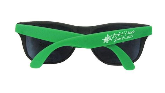 774a2ad1c3 50 Personalized Sun Glasses Beach Wedding Favors Sunglasses