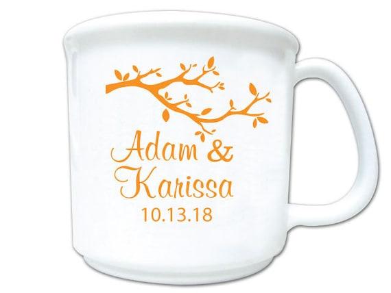 Fall wedding favors, Wedding coffee mug favors, personalized coffee mugs,  personalized 8oz plastic coffee mugs, 200 pieces
