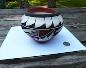 Vintage Acoma Pueblo Pottery Bowl Jar by Dora Antonio