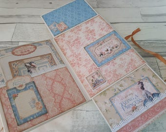 Marie Antoinette Vintage Paris Journal - Scrapbook Mini Album - Unique Gift Idea - Paris France Romance Journal Memory Book - Photo Journal