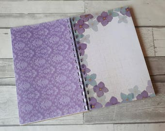 Lavender Meadows - Junk Journal - Starter Notebook - Smashbook Inspired - Creative Art Journal - Dear Diary - Life Journal