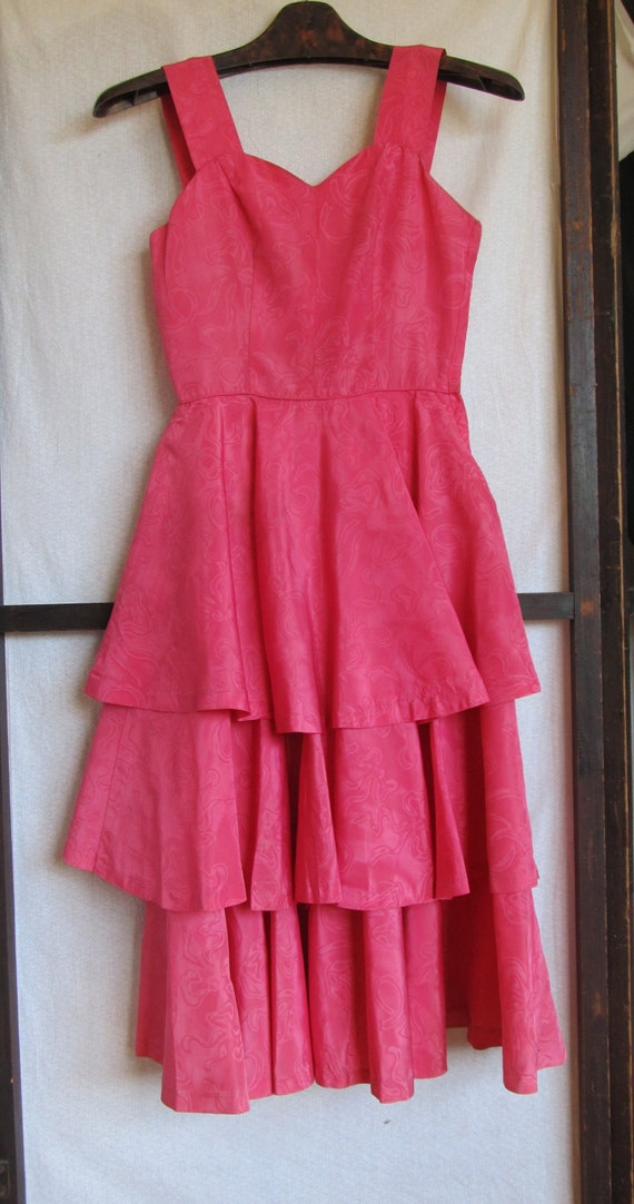 Vintage 1950's Gay Gibson  Dress; Party Dress; Bri