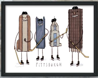 Pittsburgh Hockey art print
