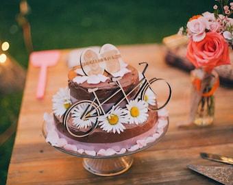 Tandem Bike Cake Topper