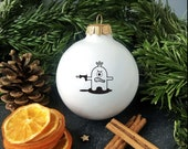 Funny Christmas Ornament with Monster, Cute Christmas Bauble, Funny Christmas