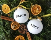 Personalized Christmas Ornament with Name, Customized Bauble, Customised Christmas Decoration