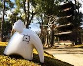 Cute Flying Elephant, Ceramic Elephant, White Elephant, Quirky Monster Figurine