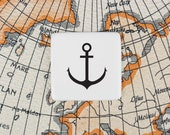 Anchor Badge, Porcelain Badge with Anchor, Nautical Brooch, Sailor Badge