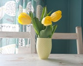 Modern Yellow Flower Vase, Pineapple Mug for Smoothies, Porcelain Mug