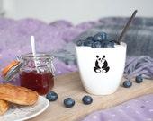 Cute Panda Mug, Panda Bear Mug, Breakfast Cup, Kids Cup