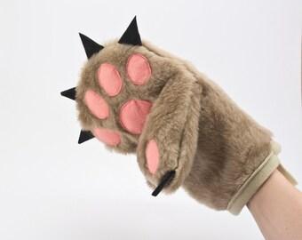 Oven Mitt, Bear Paw Kitchen Glove, Funny Pot Holder