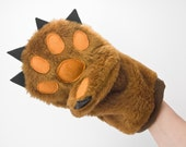 Pot Holder in a Funny Form of Teddy Bear Paw - Oven Mitt - Housewarming Gift by Kina Ceramic Design