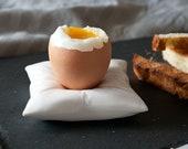 Egg Cup, Porcelain Egg holder, Egg Cup Pillow