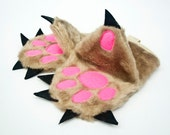 Kitchen Mitts  - Oven Gloves set in a Funny Form of Teddy Bear Paw- Pot Holders set of two