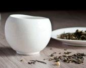 Minimalist Japanese Style Teacup, White Porcleain Teacup, Minimalist Teacup, Ceramic Tea Cup
