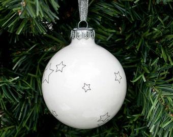 Adorno de Navidad con estrellas, adornos de Navidad, árbol de Navidad decoración