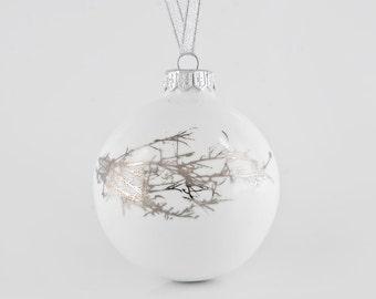 Porcelain bauble, Handmade Christmas Decoration, Christmas gifts
