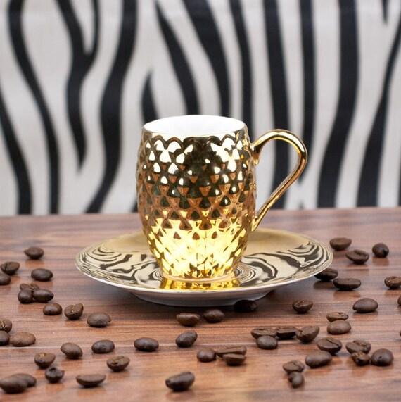 Gold Kaffeetasse Gold Ananas-Cup Luxus-Espresso-Tasse | Etsy