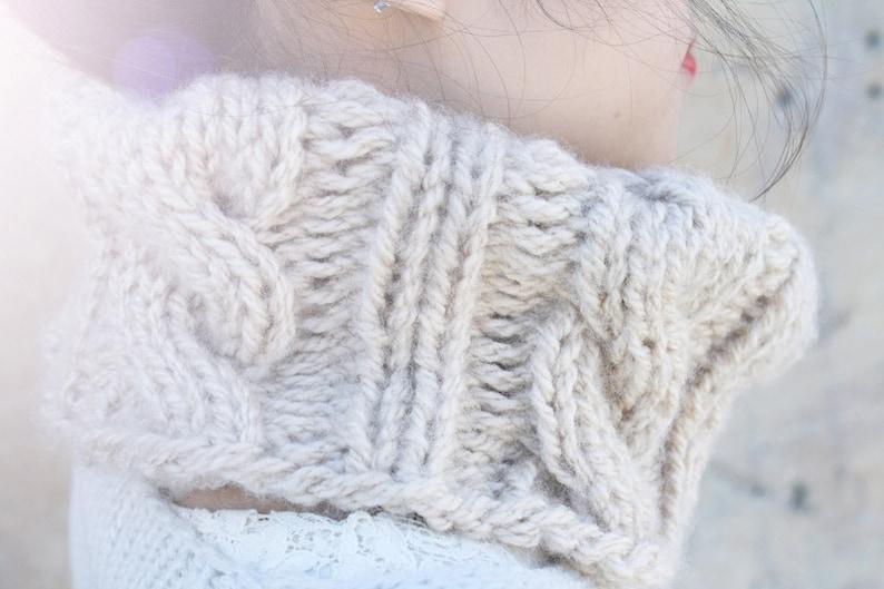 Cable Knit Cowl Knitting Pattern PDF Downloadable Pattern ...