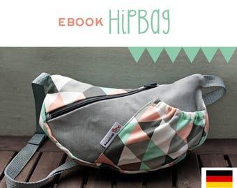 eBook HipBag, Hüfttasche, Bauchtasche, Nähanleitung, DIY, Anleitung, selber Nähen, Schnittmuster