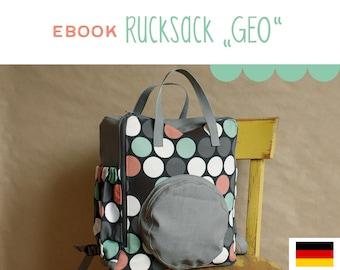 eBook Rucksack GEO, DIY, Anleitung, selber Nähen, Schnittmuster