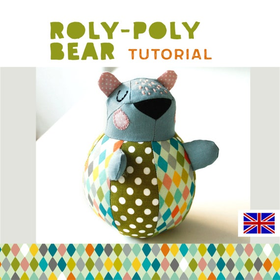 roly-poly bear plushie tutorial soft toy cuddly toy sewing | Etsy