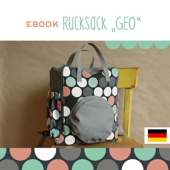eBook Rucksack GEO DIY Anleitung selber Nähen | Etsy