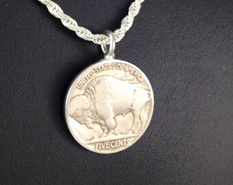 Buffalo nickle pendant