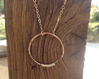 Brass and Sterling Silver Necklace