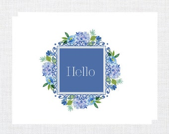 Floral Hello Note Cards