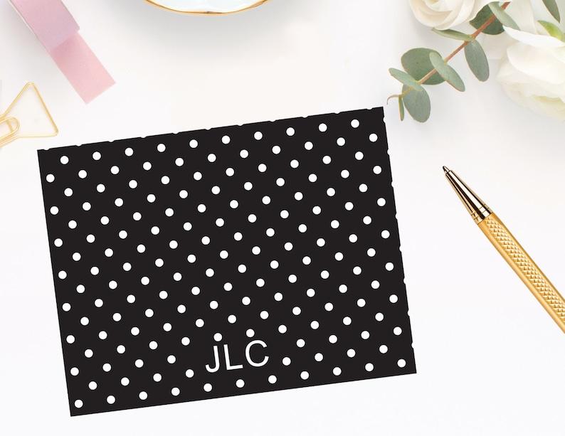 Polka Dot Monogram Note Cards