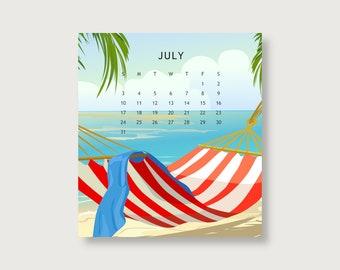 2022 Beach Desk Calendar/2022 Calendars/Beach Calendars/Desk Calendar/Small Calendars