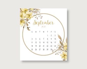 2022 Watercolor Floral Desk Calendar Refill/2022 Calendars/Floral Calendars/Desk Calendar/Small Calendars
