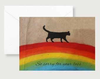 Cat Sympathy Card/Loss of Pet/Pet Sympathy/Animal Loss/Pet Condolences/Brown Pawprint/Animal Cards/Dog Sympathy/Cat Sympathy