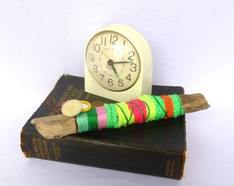 Upcycled Driftwood NEON TALKING STICK