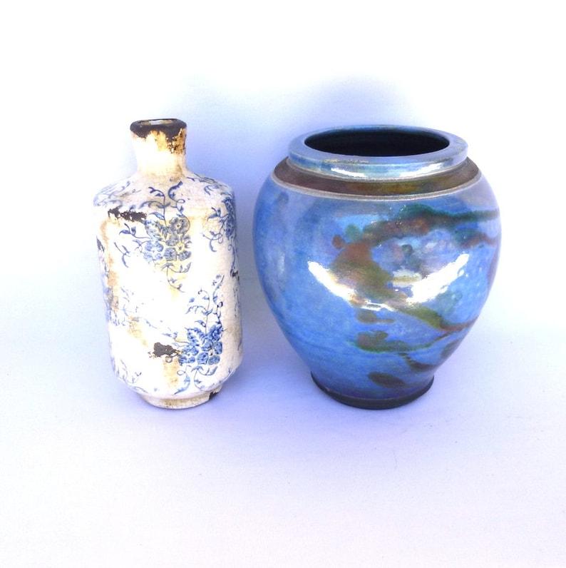 Vintage BLUE RAKU SET Instant Collection