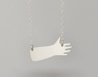 Little Hand silver necklace