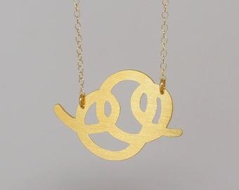 Scrawl necklace