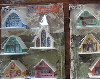 Vintage Alpine Village Homes Church Regency Alpine Christmas Village In Original Package Vintage Alpine Christmas Village Homes and Church