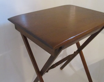 Vintage Wood Folding TV Tray/Table