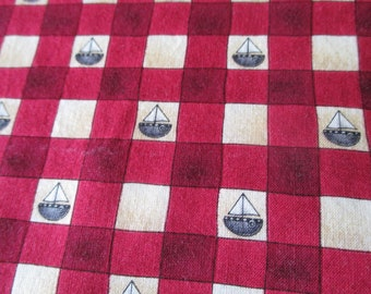 Vintage Debbie Mumm Fabric Featuring Sailboats
