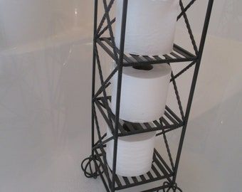Vintage Wire Stand For Toilet Paper/Candles/Plants/CDs