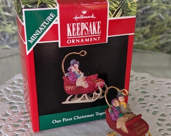 Hallmark Our First Christmas Together Ornament 1995 NOS NRFB Key Heart