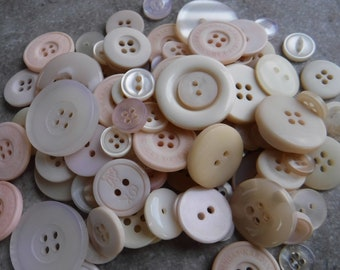 17mm 10 White Ice Cream Cone Themed Plastic Shank Style Sewing Buttons