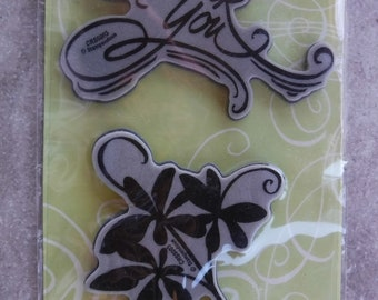 Stampendous HMCM09 Cling Scent of Lilac Rubber Stamp